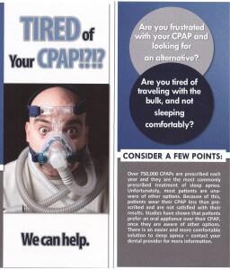 oral appliance a CPAP alterntive